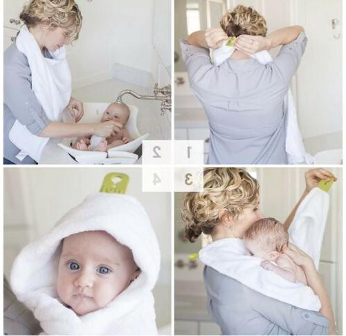Hands Free Hooded Infant Towel Puj Cuddles For