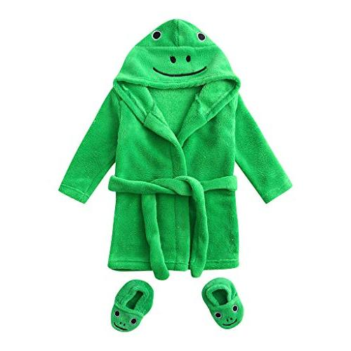 infant baby boys girls cartoon flannel bathrobes