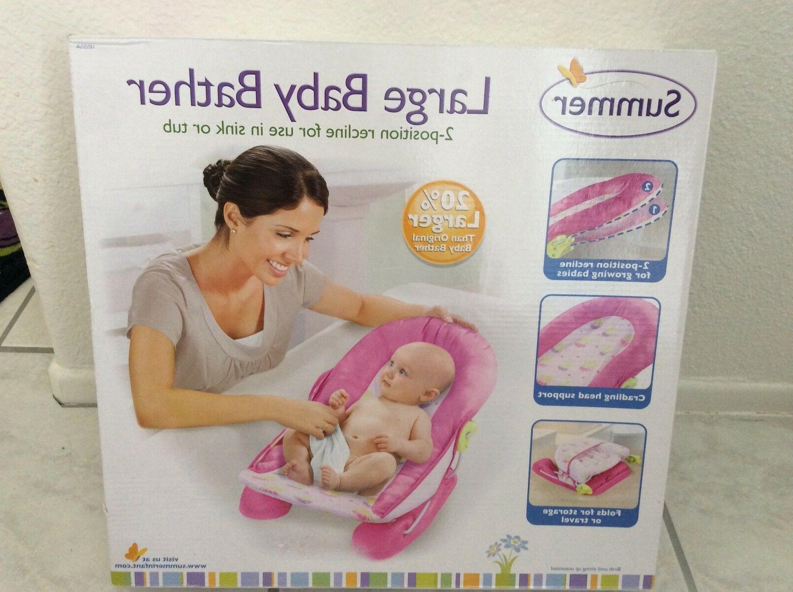 large comfort baby bather recline in sink