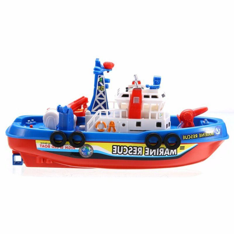LED Baby Bath Boat Toy Squirt Rides In Squirting Ship