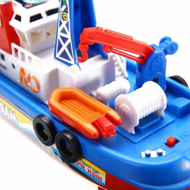 LED Toddler Boat Toy Rescue Squirt Rides In Time