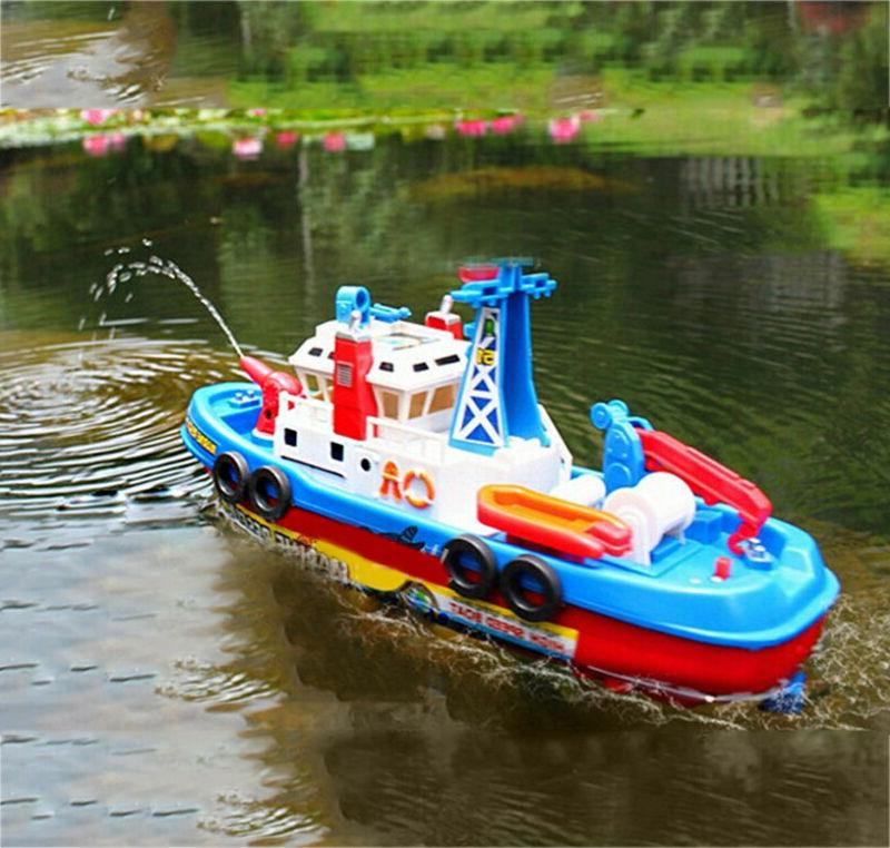 LED Toddler Boat Rescue Rides Squirting Ship