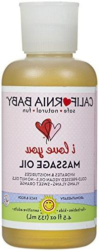 California Baby I Love you Massage Oil - Sweet Orange - 4.5