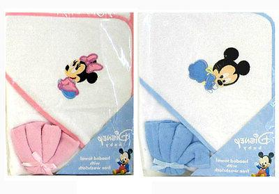 mickey minnie mouse infant baby bath hooded