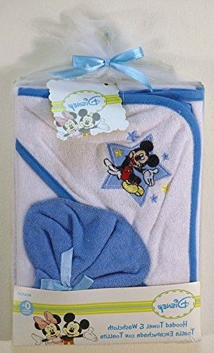 mickey mouse hooded towel gift