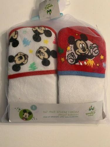 mickey mouse terry hooded towels