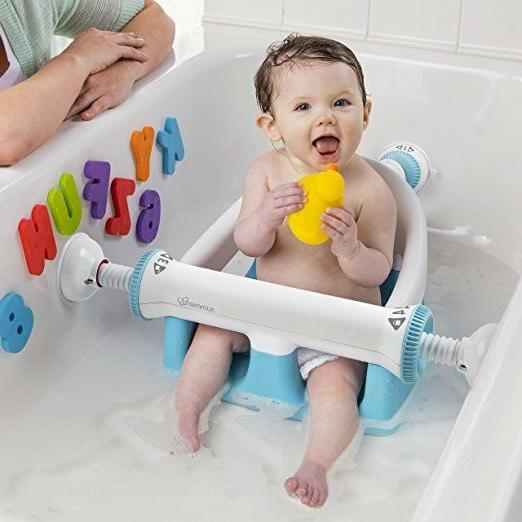 Summer Infant My Bath Seat White/Teal One Size Baby Boy Girl