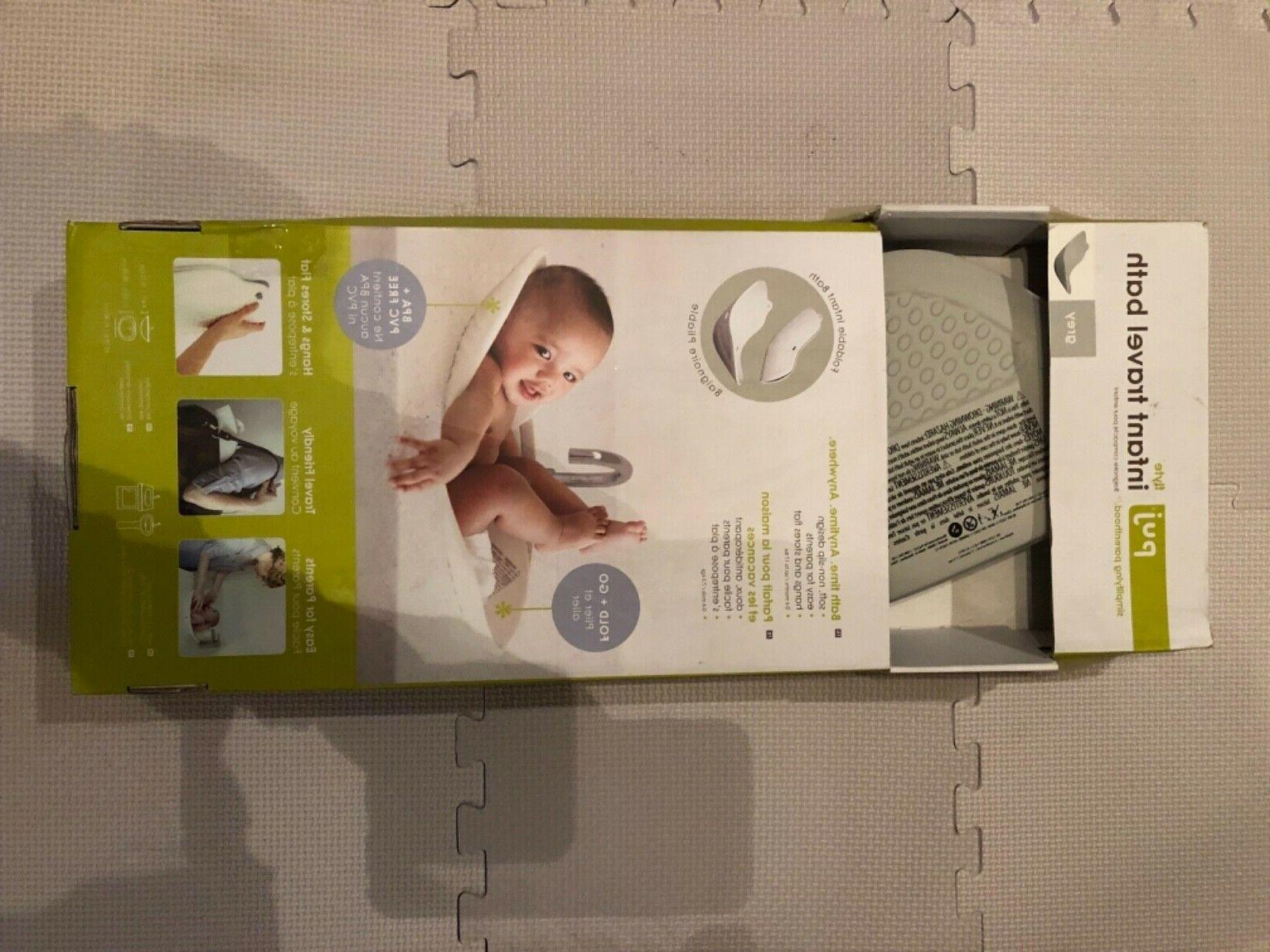 new open flyte compact infant bath grey
