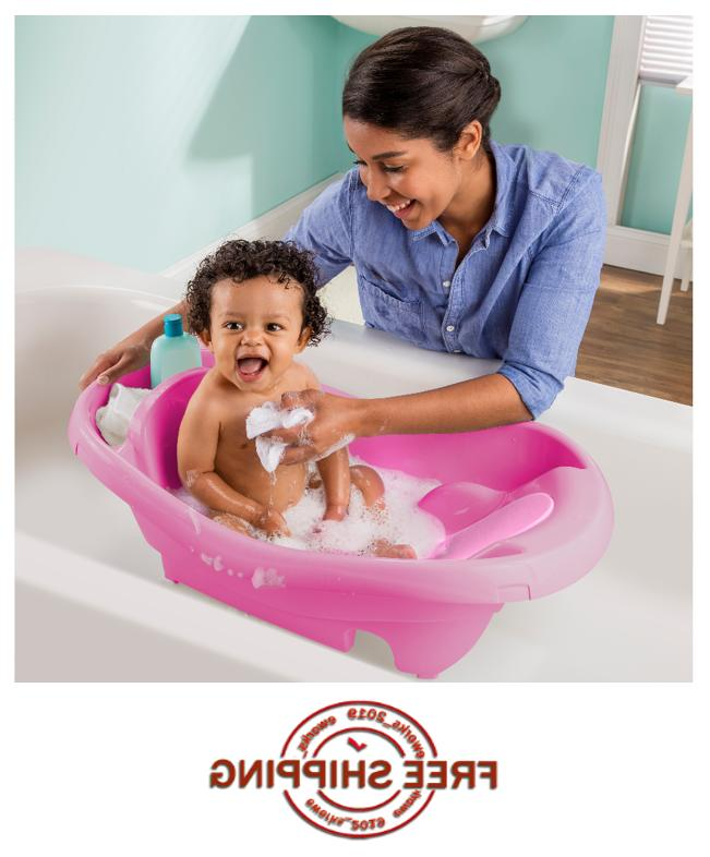 New Spacious Infant Comfy Clean to Toddler Baby Tub