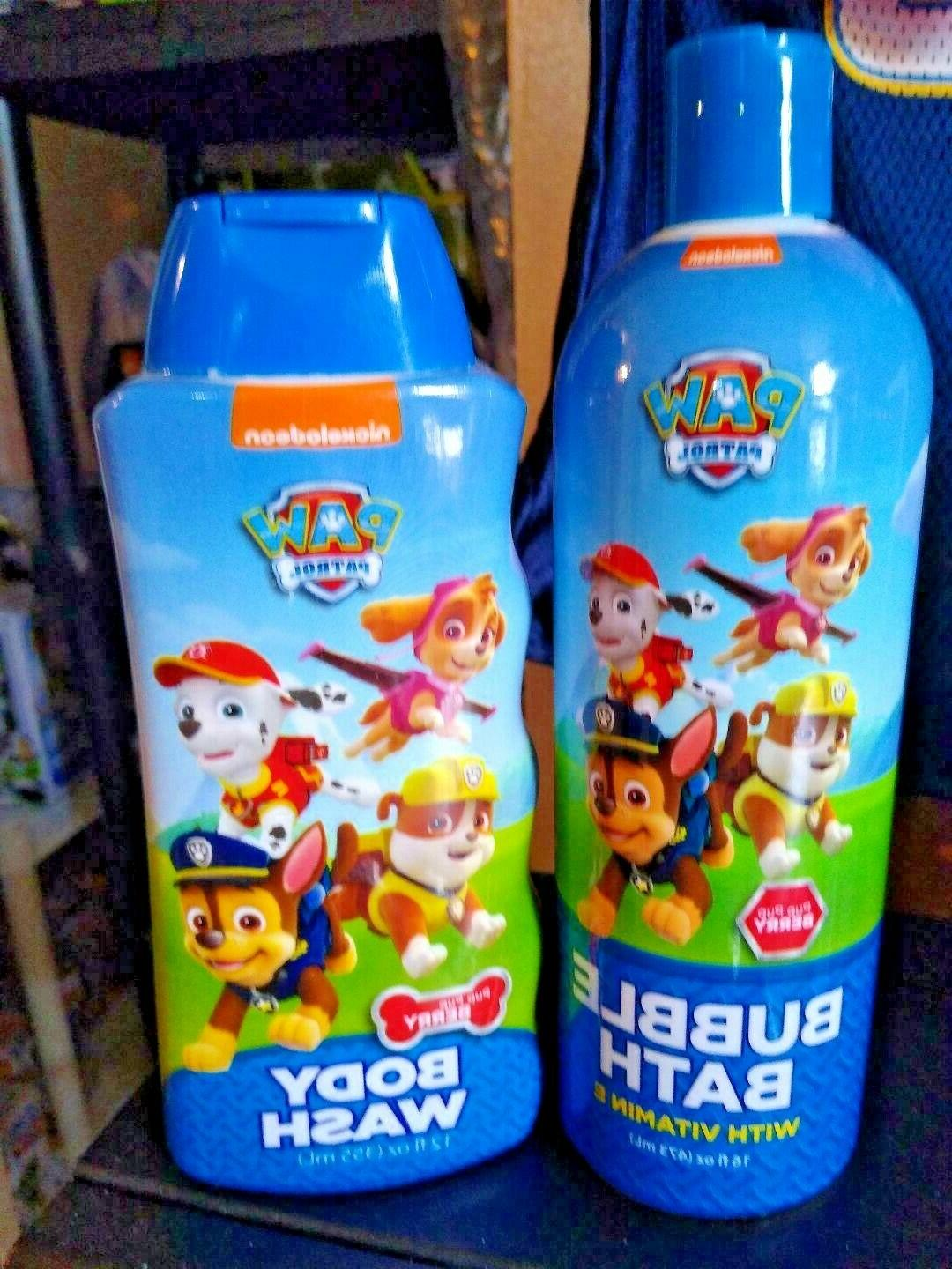 paw patrol kids body wash and bubble