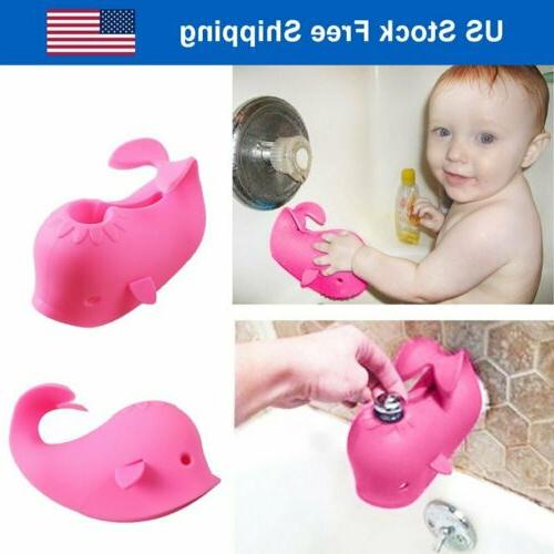 pink baby bath spout cover faucet protector
