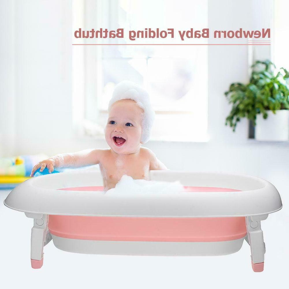 Baby Shower Bath Pad Foldable Bathtub Infant Newborn Bathing
