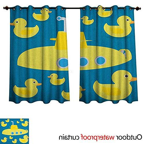 rubber duck ultraviolet protective curtains