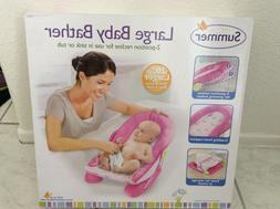 Summer Infant Large Comfort Baby Bather Recline in Sink or T