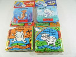 Lot of 4 Barron's Bath Time bubble Book soft infant bath Col