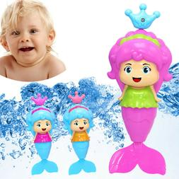 Mermaid Bath Tub Fun Swimming Baby Bath Toys Wind Up Floatin