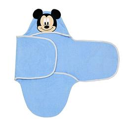 Disney Baby Mickey Mouse Bath Swaddler, Blue