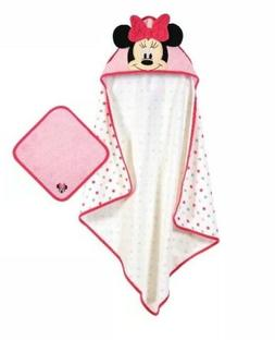 minnie mouse baby girl hooded bath towel