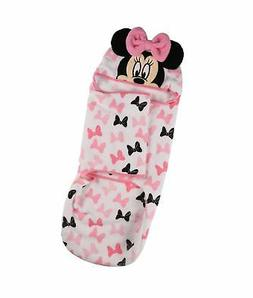Disney Minnie Mouse Swaddle Sack, Pink