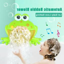 Musical Frog Baby Bath Bubble Toy Automatic Bubble Blower Ba