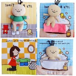 New Baby Animal Tails Cloth Book Soft Development Books Lear