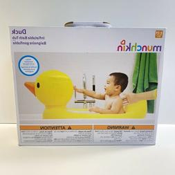 New Munchkin Duck Inflatable Baby Bath Tub 6-24 Months Trave