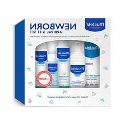 Mustela Newborn Arrival Gift Set, Baby Bath Time and Skin Ca