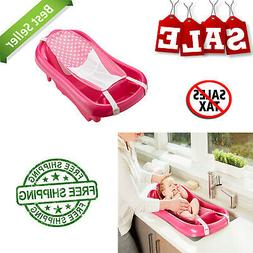 Newborn Baby Bath Tub Safety Pink Seat Sure Comfort Deluxe N