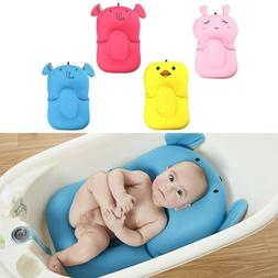Newborn Shower Mat Infant Bathtub Baby Bath Tub Pillow Pad L