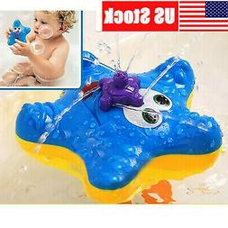 NewElectronic Float Rotate Spray Water Starfish Baby Bath To