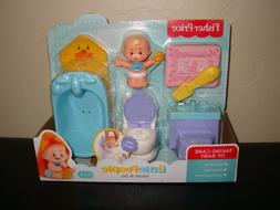 NIB Fisher-Price Little People Wash & Go Baby Figure Toy Pot