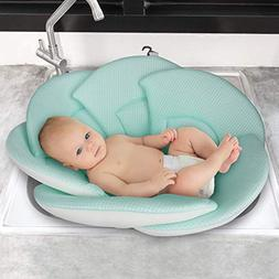 Organic Baby Bath Pillow - Konjac Sponge Included, Blooming