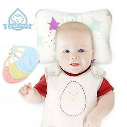 Organic Cotton Baby Head Shape Pillow Prevents Rolling Over/