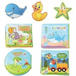 ReechTree 4 Pack Bath Books For Baby 6 To 12 Months And Todd