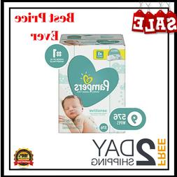 Pampers Sensitive Water-Based Baby Diaper Wipes 9 Refill Pac