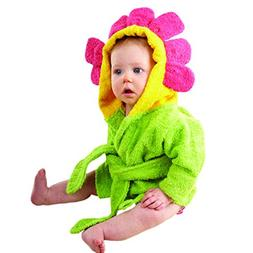 NEW BABY ASPEN SHOWER & FLOWERS HOODED SPA ROBE 0-9 MONTHS G
