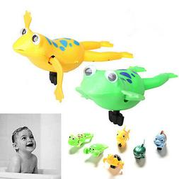Shower Kids Bath Toys Plastic Baby Wind Up Clockwork Swimmin