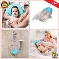New Baby Delight Snuggle Nest Cushi Bath - Aqua and Grey Mod