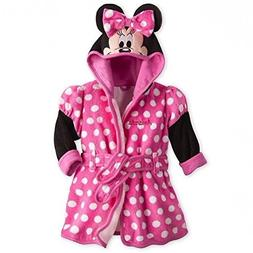 Disney Store Deluxe Minnie Mouse Bath Robe Towel for Baby Ba