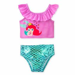 Disney Store Princess Ariel Two Piece Baby Swimsuit 3 6 9 12