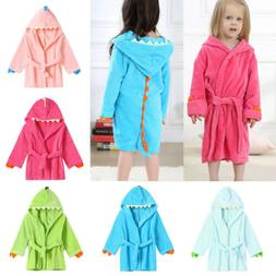 Toddler Baby Boys Girls Kids Bathrobe Cartoon Dinosaur Hoode