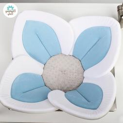 Blooming Bath Baby Tub Seat Flower Light Blue Soft Safety In