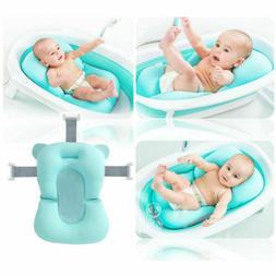 US 0-2Y Portable Baby Bath Tub Anti-slip Sponge Foam Pad Saf