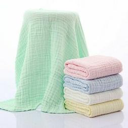 Newborn Baby Cotton Muslin Swaddle Soft Sleeping Blanket Wra