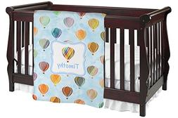 Watercolor Hot Air Balloons Baby Blanket