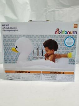 Munchkin White Hot Inflatable Safety Swan Tub, Brand New