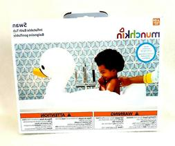 Munchkin White Hot Inflatable Safety Swan Tub, swan-shaped b