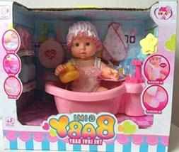 YOUNG CHOI'S Baby Soft Educational Doll Bathtub Set w/ Acces