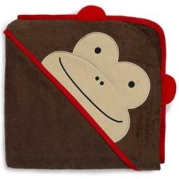 Skip Hop Baby Hooded Towel, 100% Cotton French Terry, Monkey